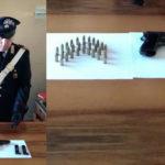 Pistola e cartucce sotto un lavandino. In manette un agricoltore palmese