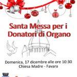 Favara. Domenica 17 dicembre la Santa Messa per i donatori organizzata dall'A.I.D.O.