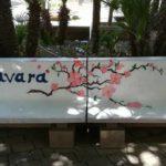 """Favara. In Piazza Don Giustino, le panchine diventano Arte grazie agli studenti del Liceo """"M.L.King"""""""