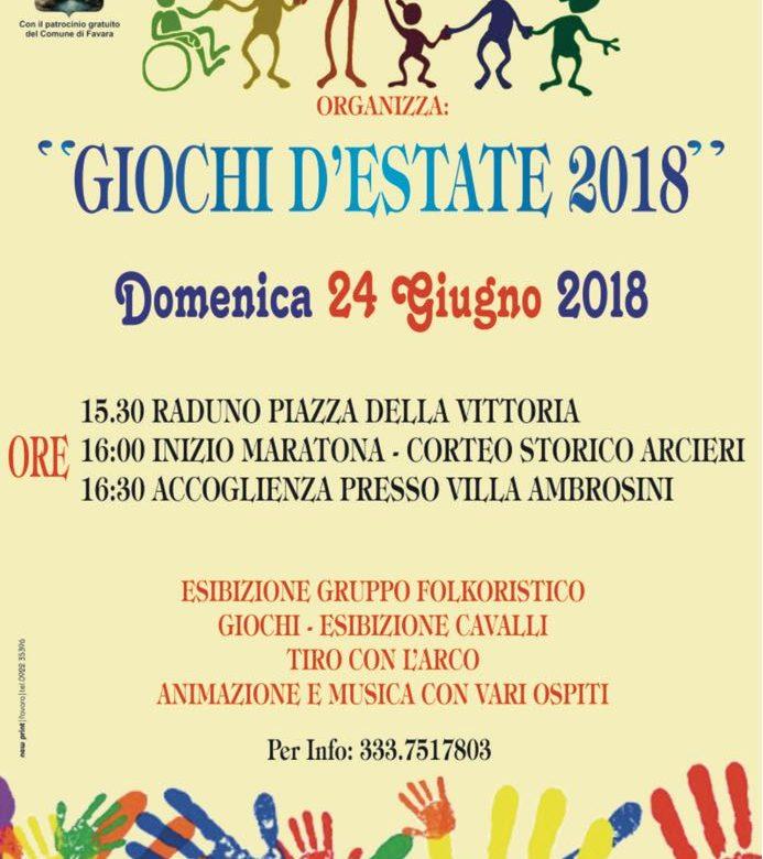 ''Giochi d'Estate 2018'', domenica grande festa a Favara