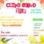 Favara. Il Cif organizza alla Villa Ambrosini il Campo estivo dal 9 luglio al 10 agosto