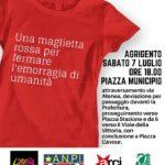 """Agrigento.  Domani pomeriggio la manifestazione """"Una #magliettarossa per fermare l'emorragia di umanità"""""""