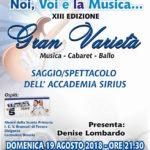 """Favara. Domenica 19 agosto il Saggio di fine anno dell'Accademia di canto """"Sirius"""" in Piazza Cavour"""