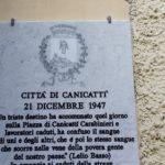 Una lapide in ricordo della strage del dicembre '47, da oggi a Canicattì, ad imperitura memoria