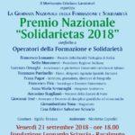 """Cultura. Al professor Francesco Pira il Premio Nazionale """"Solidarietas 2018"""""""