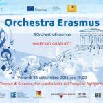 """Cultura. Venerdì 28 settembre """"L'Orchestra Erasmus in concerto alla Valle dei Templi"""""""