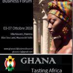 """Cultura. Mercoledì 3 ottobre, l'inaugurazione a Palermo presso Villa Niscemi del Forum """"Ghana. Tasting Africa"""""""