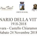 """Celebrazione del """"Centenario della Vittoria"""" al Castello Chiaramonte di Favara – Sabato 24 novembre 2018 ore 09:30"""