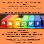 """Scuola. All'Istituto Fermi di Licata il prof. Francesco Pira terrà un corso di aggiornamento per docenti su come """"Insegnare in una Società digitalizzata tra emotivismo e disintermediazione"""""""