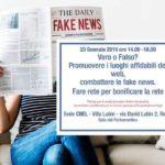Cultura. Domani a Roma si parlerà di Fake news e come contrastarle con il sociologo prof. Francesco Pira