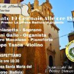 """Favara. Sabato 19 gennaio alle ore 18.30 Concerto di musica Sacra presso la """"Badiola"""" di Agrigento"""