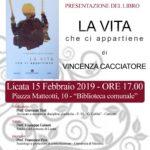 """Cultura. Presso la Biblioteca """"Luigi Vitali"""" di Licata, la presentazione del romanzo di Vincenza Cacciatore"""