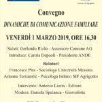 """Cultura. Venerdì 1 marzo il convegno """"Dinamiche di comunicazione familiare"""" presso la Biblioteca La Rocca"""