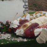 Favara. Distrutta per l'ennesima volta la statua del Cristo di via Saragat