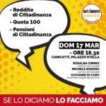 Politica. Domenica 17 marzo a Canicattì si parlerà di Reddito di cittadinanza con l'on. Giovanni Di Caro (M5S)