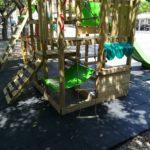 Favara. Sistemato il tappetino anti trauma in prossimità del parco gioco di piazza Cavour