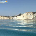 Realmonte. Tanica di olio esausto rivenuta in mare