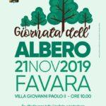 """Favara. Giovedì 21 novembre presso la Villa Giovanni Paolo II, """"Favara Festa dell'Albero"""""""