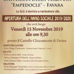 """Favara. Venerdì 15 novembre al Castello Chiaramonte, l'Università della terza età """"Empedocle"""" inaugura il nuovo anno sociale"""