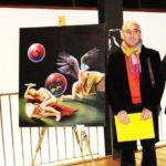 """Agrigento. Grande successo per la personale di pittura """"Quasi per gioco"""" di Mario Passarello"""