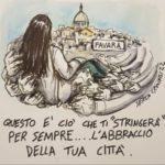 """Favara accoglie l'arrivo della salma di Lorena Quaranta con lenzuola bianche stese sui balconi. Fabaria Donna: """"Ciao Lorena FAVARA TI AMA"""""""