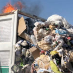 Favara. Scoppia incendio sul camion della  raccolta dei rifiuti