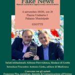 """Cultura. Venerdì 4 settembre a Grotte , si presenta""""Fake News – Manuale semiserio di sopravvivenza contro le bufale"""" di Pira e Moncada"""