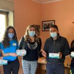 Favara. Rosalia Sgarito, coordinatrice provinciale per le politiche sociali di FdI,  dona 300 mascherine alla Misericordia