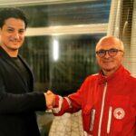 L'assessore comunale Adriano Varisano porta la Croce Rossa Italiana a Favara