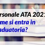Personale ATA 2021: domanda dal 22 marzo. Ecco chi può presentare domanda