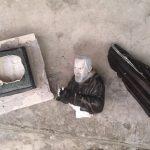 Favara. Distrutta la statua di Padre Pio di via Ugo Foscolo: spaccata in tre pezzi