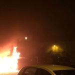 Favara, auto a fuoco nella notte