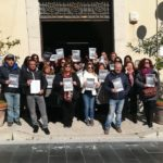 Favara. Protesta questa mattina dei precari Asu davanti al Comune (Video)