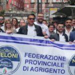 Manifestazione Fratelli d'Italia a Napoli, folta rappresentanza dalla provincia di Agrigento