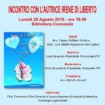 """Cultura. Lunedì 26 agosto a Casteltermini si presenta il libro di poesie di Irene Di Liberto """"Versi in volo"""""""