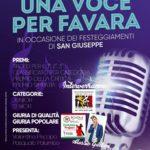 """Favara. Lunedì alle ore 21.00 in Piazza Cavour la terza edizione de """"Una Voce per Favara"""""""