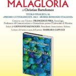 """Cultura. Si presenta oggi pomeriggio a Canicattì """"""""Malagloria"""", il romanzo di Christian Bartolomeo"""