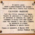 Domani a Varese una targa ricordo nella casa di Calogero Marrone