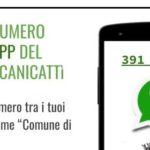 Emergenza CORONAVIRUS. Numero di messaggistica Whatsapp per comunicazioni.