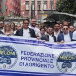 Fratelli d'Italia oggi a Siculiana per la  manifestazione  contro ex Villa Sikania