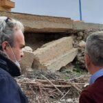Cannatello. Il sindaco Micciche' visiona di persona la situazione del crollo di via Farag