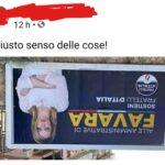 """Manifesto di Giorgia Meloni a testa in giù, Fratelli d'Italia Favara: """"Adesso basta"""""""
